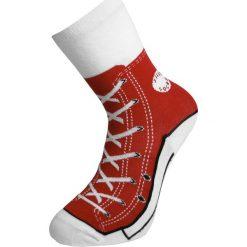 Sneaker Socks Skarpetki czerwony. Czerwone skarpetki męskie marki DOMYOS, z elastanu. Za 32,90 zł.