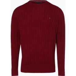 Tommy Hilfiger - Sweter męski, czerwony. Czerwone swetry klasyczne męskie TOMMY HILFIGER, l, z klasycznym kołnierzykiem. Za 549,95 zł.