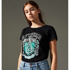 T-shirt Harry Potter - Czarny. Czarne t-shirty damskie House, l. Za 39,99 zł.