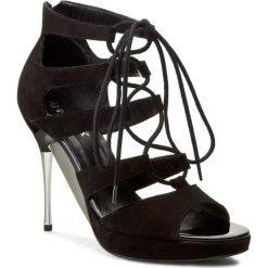 Rzymianki damskie: Sandały ANN MEX – 7213 01W Czarny