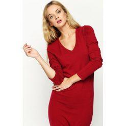 Bordowa Sukienka Grant. Czerwone sukienki dzianinowe Born2be, l. Za 49,99 zł.