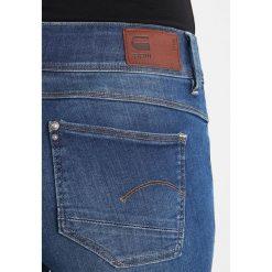 GStar LYNN MID SKINNY RP ANKLE Jeans Skinny Fit maure superstretch. Niebieskie jeansy damskie relaxed fit marki G-Star, z bawełny. W wyprzedaży za 375,20 zł.