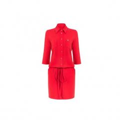 Czerwona sukienka ze ściągaczem. Szare sukienki dresowe marki bonprix, melanż, z kapturem, z długim rękawem, maxi. Za 149,00 zł.
