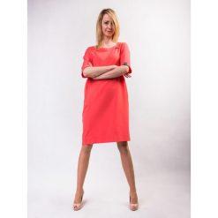 Sukienki: Sukienka damska GINA LOOK koralowa