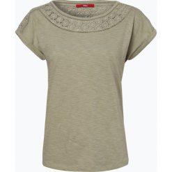 T-shirty damskie: s.Oliver Casual – T-shirt damski, zielony