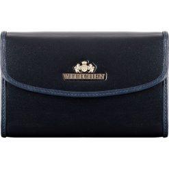 Portfel 25-1-045-N. Niebieskie portfele damskie Wittchen. Za 339,00 zł.
