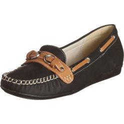 Mokasyny damskie: Mokasyny w kolorze czarno-brązowym