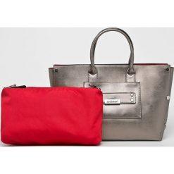 Monnari - Torebka. Brązowe torebki klasyczne damskie Monnari, z materiału, duże. W wyprzedaży za 179,90 zł.