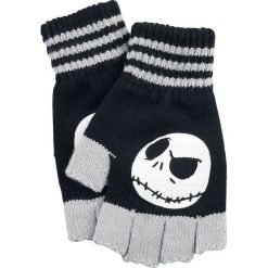 Rękawiczki damskie: Miasteczko Halloween Jack Rękawiczki bez palców czarny/szary