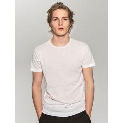 T-shirty męskie: T-shirt z lekkiej dzianiny – Biały