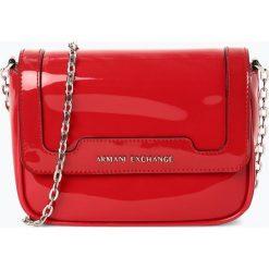Armani Exchange - Damska torebka na ramię, czerwony. Czarne torebki klasyczne damskie marki Armani Exchange, l, z materiału, z kapturem. Za 529,95 zł.