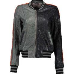 """Bomberki damskie: Skórzana kurtka """"Brand New"""" w kolorze czarno-szarym"""