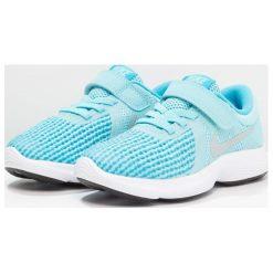 Nike Performance REVOLUTION 4 Obuwie do biegania treningowe bleached aqua/metallic silver/light blue fury/white. Brązowe buty do biegania damskie marki N/A, w kolorowe wzory. Za 149,00 zł.