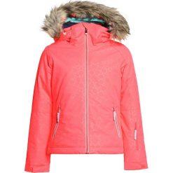 Roxy JET SO GIRL Kurtka snowboardowa neon grapefruit/gana emboss. Czerwone kurtki dziewczęce sportowe Roxy, z materiału, narciarskie. W wyprzedaży za 411,75 zł.