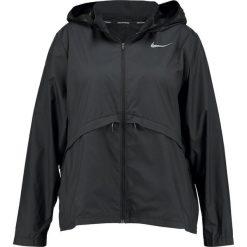 Nike Performance ESSENTIAL EXTENDED Kurtka sportowa black/reflective silver. Czarne kurtki sportowe damskie marki Nike Performance, z materiału. Za 369,00 zł.