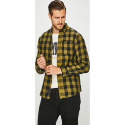 PRODUKT by Jack & Jones - Koszula 12130163. Szare koszule męskie na spinki marki S.Oliver, l, z bawełny, z włoskim kołnierzykiem, z długim rękawem. Za 119,90 zł.