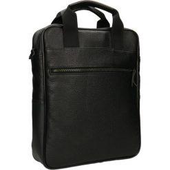 Listonoszka BISSAU. Czarne torby na ramię męskie Gino Rossi, m, w paski, ze skóry. Za 449,90 zł.