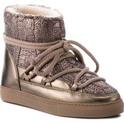 Buty INUIKII - Sneaker Galway 70202-8 Gold. Żółte buty zimowe damskie Inuikii, z materiału, na niskim obcasie. Za 1179,00 zł.
