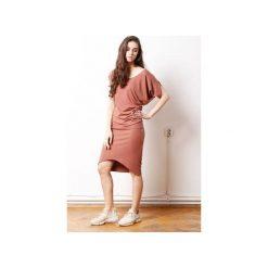 Wygodna Dzianinowa Sukienka Dresowa Terracotta. Szare sukienki asymetryczne marki bonprix, melanż, z dresówki, z kapturem, z długim rękawem, maxi. Za 329,00 zł.