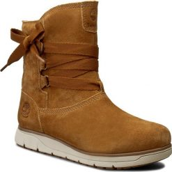 Buty zimowe damskie: Botki TIMBERLAND - Leighland Pull On A17MW Wp Trapper Tan