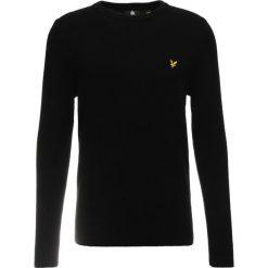 Lyle & Scott CREW NECK BLEND JUMPER Sweter true black. Czarne swetry klasyczne męskie Lyle & Scott, m, z materiału. Za 379,00 zł.