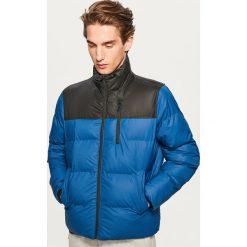 Pikowana kurtka ze stójką - Niebieski. Niebieskie kurtki męskie bomber Reserved, l. Za 169,99 zł.