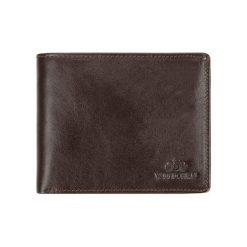 Portfele męskie: Skórzany portfel w kolorze brązowym – (D)13 x (S)10 cm