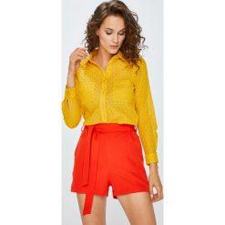 Answear - Koszula. Pomarańczowe koszule damskie marki ANSWEAR, l, z bawełny, casualowe, z klasycznym kołnierzykiem, z długim rękawem. W wyprzedaży za 99,90 zł.