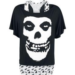 Misfits Skull Koszulka damska czarny/biały. Białe bluzki z odkrytymi ramionami marki Misfits, l, z nadrukiem, z dekoltem w łódkę. Za 79,90 zł.