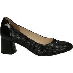 Czółenka - F961-18 PU NE. Czarne buty ślubne damskie Venezia, ze skóry. Za 299,00 zł.
