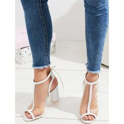 Sandały damskie: Białe Sandały Be Loud
