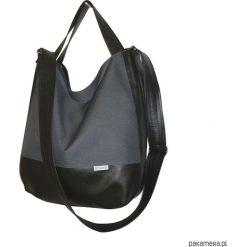 Shopper bag damskie: 5482 ankate, duża szara torba, szary worek xxl