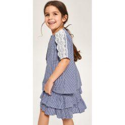 Spódnica z falbanami - Niebieski. Niebieskie spódniczki dziewczęce marki Reserved. W wyprzedaży za 24,99 zł.