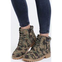 Zielone Traperki Fuego. Zielone buty zimowe damskie marki Born2be, na obcasie. Za 99,99 zł.
