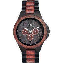Zegarek Giacomo Design Drewniany męski GD08101. Brązowe zegarki męskie Giacomo Design. Za 559,00 zł.