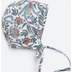 Czapeczka bonnetka paisley. Szare czapeczki niemowlęce Pakamera, paisley, z bawełny. Za 79,00 zł.