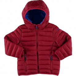 Kurtka zimowa w kolorze czerwonym. Czerwone kurtki chłopięce zimowe marki CMP Kids, z materiału. W wyprzedaży za 122,95 zł.