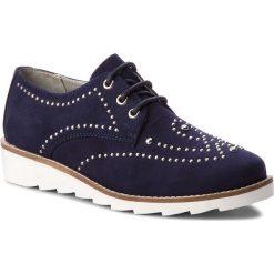 Oxfordy MARCO TOZZI - 2-23751-20 Navy 805. Niebieskie jazzówki damskie marki Marco Tozzi, ze skóry. W wyprzedaży za 149,00 zł.