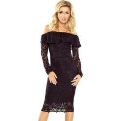 Luisa Sukienka koronkowa - hiszpanka z długim rękawkiem - CZARNA. Czarne sukienki hiszpanki marki morimia, s, z koronki, z dekoltem typu hiszpanka, z długim rękawem. Za 229,99 zł.