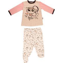 Spodnie niemowlęce: 2-częściowy zestaw w kolorze brzoskwiniowo-jasnoróżowym
