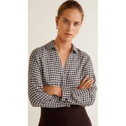 Mango - Koszula Monu. Szare koszule damskie w kratkę Mango, l, z tkaniny, z długim rękawem. Za 139,90 zł.