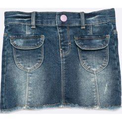 Name it - Spódnica dziecięca 92-122 cm. Szare minispódniczki marki Name it, z bawełny, proste. W wyprzedaży za 49,90 zł.