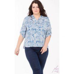 Bluzki asymetryczne: Wzorzysta bluzka Plus