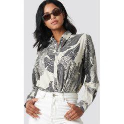 New Black Koszula Banana - Beige. Brązowe koszule wiązane damskie New Black, z nadrukiem, z długim rękawem. Za 404,95 zł.