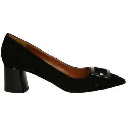 Czółenka - 5974 CAM NERO. Czarne buty ślubne damskie Venezia, ze skóry. Za 239,00 zł.