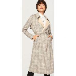 Płaszcz w kratę - Wielobarwn. Szare płaszcze damskie pastelowe Reserved. W wyprzedaży za 149,99 zł.