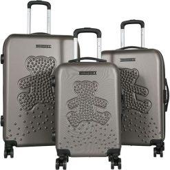 Walizki: Zestaw walizek w kolorze taupe – 3 szt.