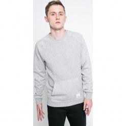 Reebok - Bluza. Szare bluzy męskie rozpinane Reebok, l, z bawełny, bez kaptura. W wyprzedaży za 149,90 zł.