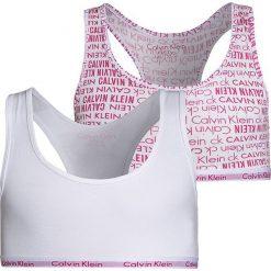 Biustonosze bardotka: Calvin Klein Underwear 2 PACK Biustonosz bustier white/viva pink
