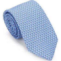 Krawat 87-7K-001-N. Niebieskie krawaty męskie Wittchen, z bawełny, eleganckie. Za 149,00 zł.